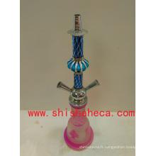 Narguilé rose de haute qualité pipe Shisha narguilé