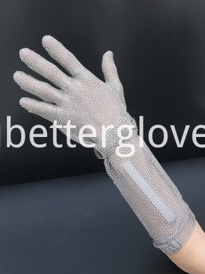 stainless mesh gloves long cuff