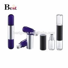 emballage cosmétique nouveau design spécial conception double bouteille un bouchon verre parfum rouleau sur la bouteille