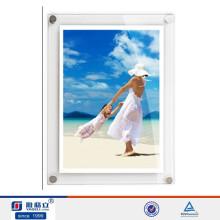 Пользовательская акриловая настенная магнитная рамка для фотографий