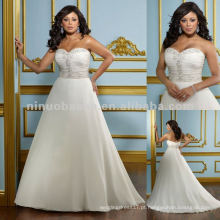 NY-2418 chiffon delicado com vestido de casamento bordado