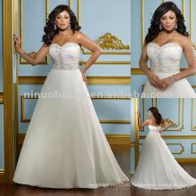 Нью-Йорк-2418 нежный шифон с вышивкой свадебное платье