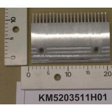 Placa de aluminio peine para KONE Escaleras mecánicas KM5203511H01
