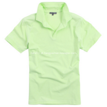 Camisa polo de algodão da marca promocional