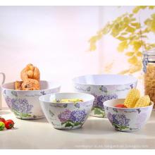 (BC-MB1035) de alta calidad reutilizables imitación de porcelana melamina Bowl Set