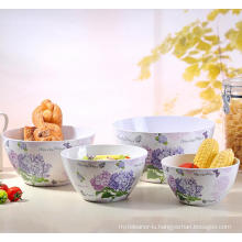 (BC-MB1035) High Quality Reusable Imitation Porcelain Melamine Bowl Set