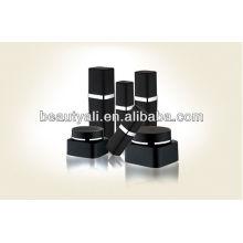 Bouteille en plastique plastique noir pour emballage de lotion