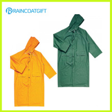 Durable Yellow PVC Polyester Rain Jacket