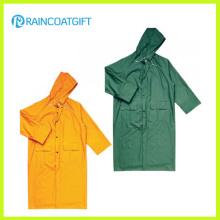 Veste de pluie en polyester PVC jaune durable