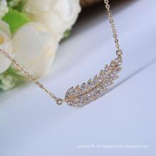 Heißer Verkauf neuer Produktart und weisezusatzzirconblatt-Halskettenblatt-hängende Halskette