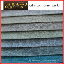 Tecido liso do Chenille para a embalagem do sofá nos rolos (EDM0232)