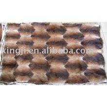 Placa de pele de rato almiscarado