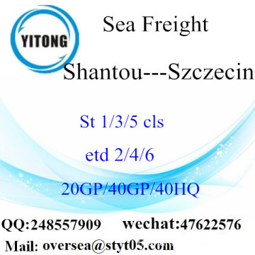 Shantou Port Sea Freight Shipping To Szczecin