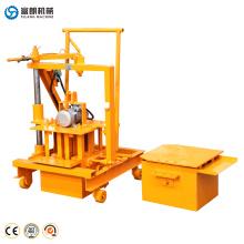 Chine produits 40-3C manuel à petite échelle mini électrique oeuf pose béton ciment cendres volantes creux bloc brique faisant la machine prix