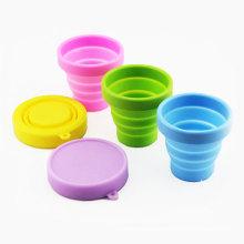 Kinder Tasse vorhanden Silikon Drink Becher Travel faltbare Tasse