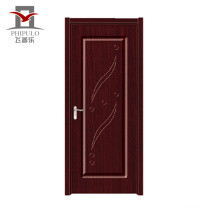 Factory gate price luxury style entry pvc wood door with good quality made in china