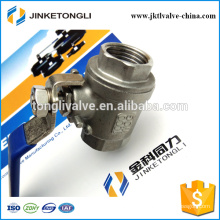 JKTL2B019 manufacture 2 piece floating cast iron segment ball valve