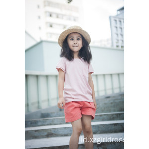 100% Cotton Unisex Kids Clothes T-Shirt untuk Musim Panas
