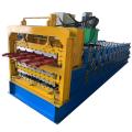 Three layer metal panel roll forming machine