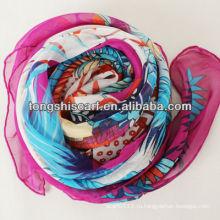 мода шелк шифон шарф