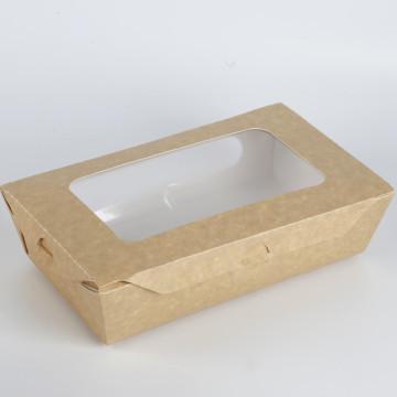 Kraftpapier-Verpackungspapierkasten mit Fenster