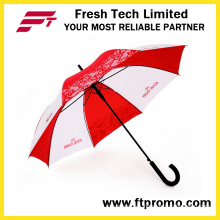 23*8k Auto Open Straight Umbrella with Logo