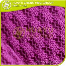 YT-0635 tissu en maille écarlate en polyester