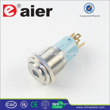 Daier LAS3-16H-11D Dot LED interruptor de botón de acero inoxidable