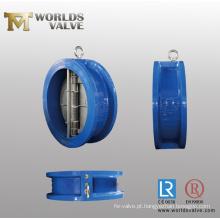 Válvula de retenção de aço inoxidável de placa dupla