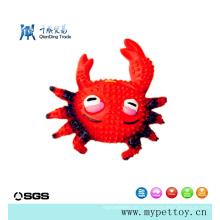 Высококачественная латексная игрушка-краб из латекса для домашних животных