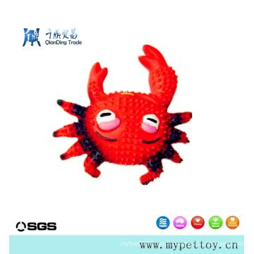 Jouet pour animaux de compagnie en latex de crabe en latex de haute qualité