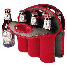 Couverture de douille de bouteille de pique-nique de poignée de néoprène d'OEM pour le cadeau promotionnel