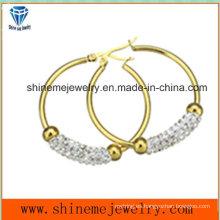 Shineme joyas de moda mujeres pendiente de chapado en oro (ERS7011)