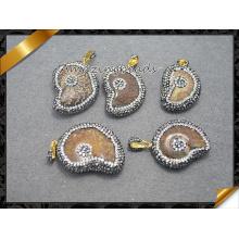 Collar pendiente cristalino al por mayor de la joyería para el regalo (EF0103)