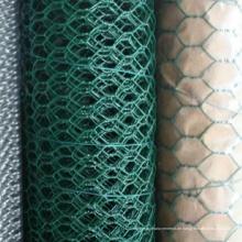 Grünes PVC-beschichtetes sechseckiges Drahtgeflecht