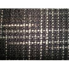 Tissu à carreaux teintés en fil épais épais