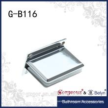 Glasfitting-Quadratfase 90 Grad - Wand zum Glasklemmscharnier