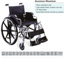 Aluminum Wheelchair with Nylon Upholstery Seat