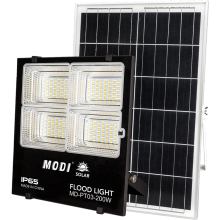 Luzes sloar exteriores de 200w com controle remoto