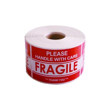 Bonne qualité étiquette d'expédition étiquette d'avertissement fragile autocollant
