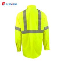 Camisa reflexiva de la chaqueta de seguridad de la construcción profesional al por mayor de 2018