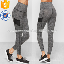 Grey Marled Knit Wide Waistband Leggings OEM/ODM Manufacture Wholesale Fashion Women Apparel (TA7028L)