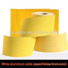 rollo de papel de arena de óxido de aluminio