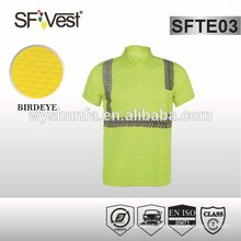 ansi/isea 107-2010 traffic polo shirt , work shirt ,high visibility clothing with 3m reflective tape ,hot sale in 2015