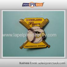 Cheap Metal Baseball Pins/gold Plated Baseball Badge