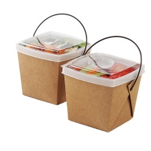 High quality low price microwave safety and health economic disposable Paper/PP lunch box bento with seperate lid
