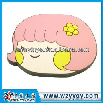 Sourire visage Cartoon Pvc miroir pour fille partie décoration