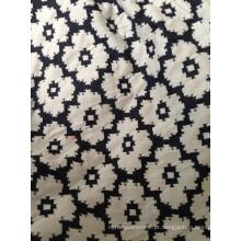 Tecido tricotado jacquard de dupla face de algodão spandex