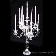 Mais recente projeto de qualidade superior por atacado decorativo cristal claro contas titular da vela