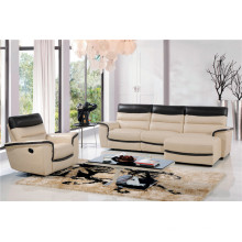 Sofá de salón con sofá moderno de cuero genuino (443)